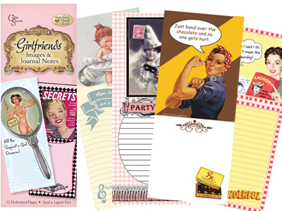 Crafty Secrets Vintage Image & Journal Notes - Girlfriends